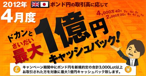 1億円キャッシュバック