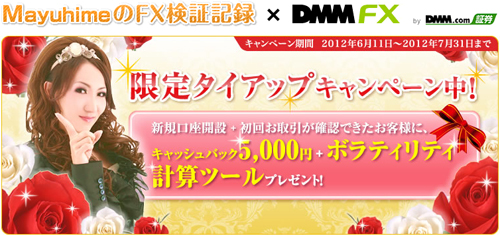 DMMタイアップ5000円キャッシュバック+ボラティリティ計算ツール