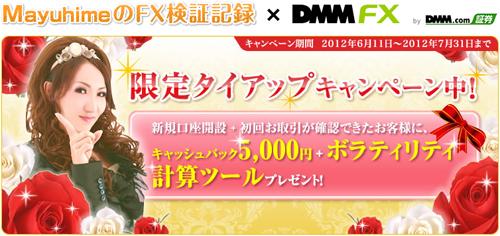 DMMタイアップ5000円キャッシュバック+ボラティリティ計算ツール