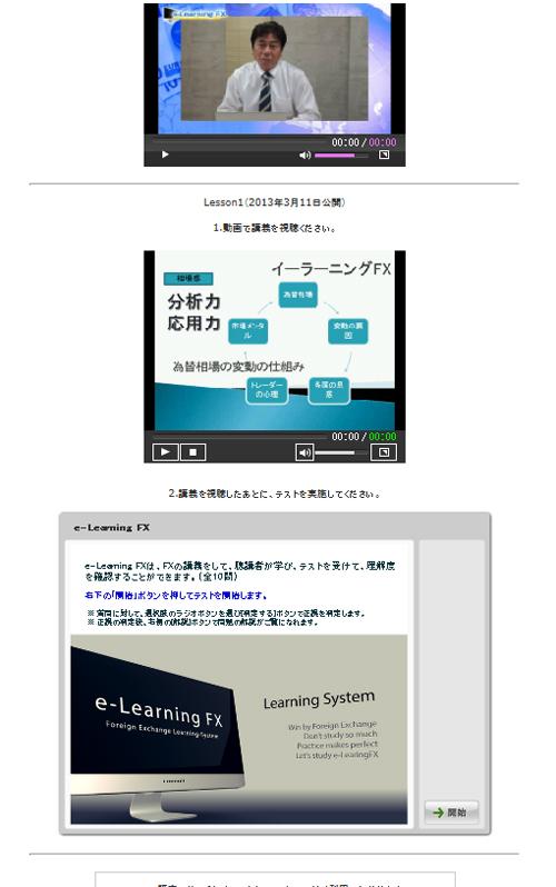 e-Leraning FX画面